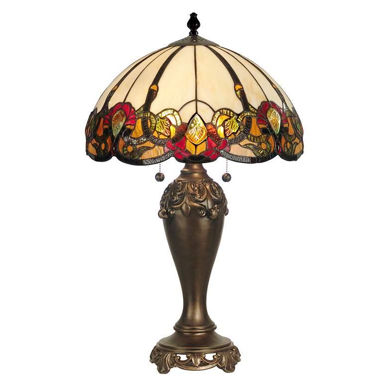 Dale Tiffany Northlake Art Glass Table Lamp