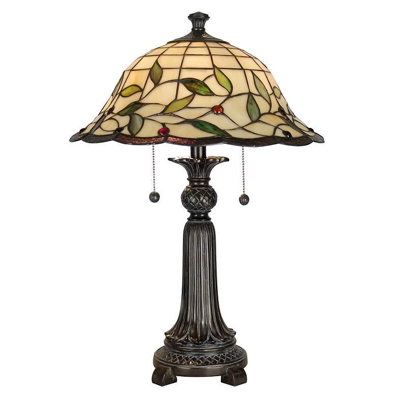 "Dale Tiffany 23"" High Donavan Art Glass Accent Table Lamp"