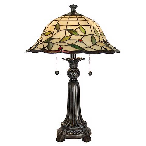 "Dale Tiffany 23"" High Donavan Art Glass Accent Table Lamp"