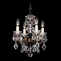 Mini chandeliers luxe looks for the bedroom bathrooms closet schonbek la scala 12 12w heritage crystal mini chandelier mozeypictures Images