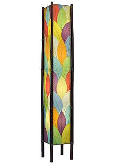 Eangee transitional floor lamps lamps plus eangee fortune tower multicolor cocoa leaves 72 aloadofball Gallery