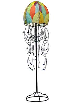 Eangee themed floor lamps lamps plus eangee jellyfish multicolor cocoa leaves 64 high floor lamp aloadofball Images