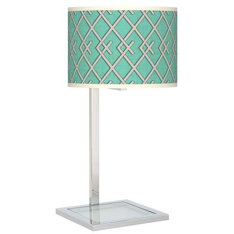 Crossings Glass Inset Table Lamp