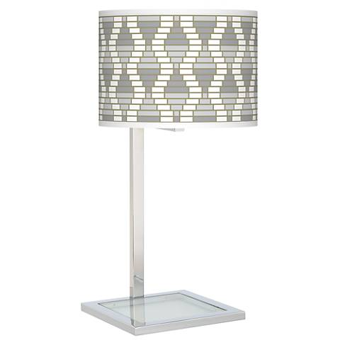 Stepping Out Glass Inset Table Lamp