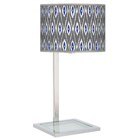 American Ikat Glass Inset Table Lamp