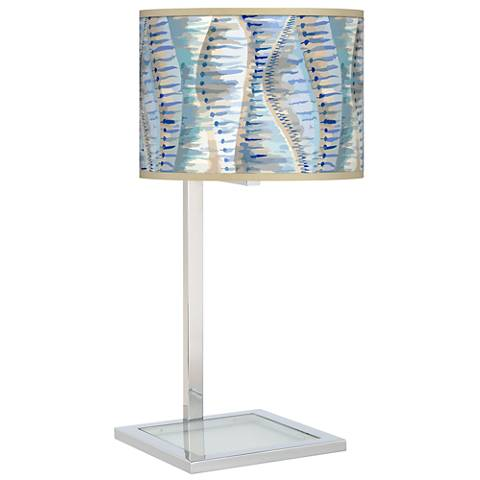 Siren Glass Inset Table Lamp