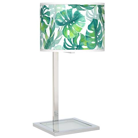 Tropica Glass Inset Table Lamp