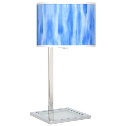 Blue Tide Glass Inset Table Lamp
