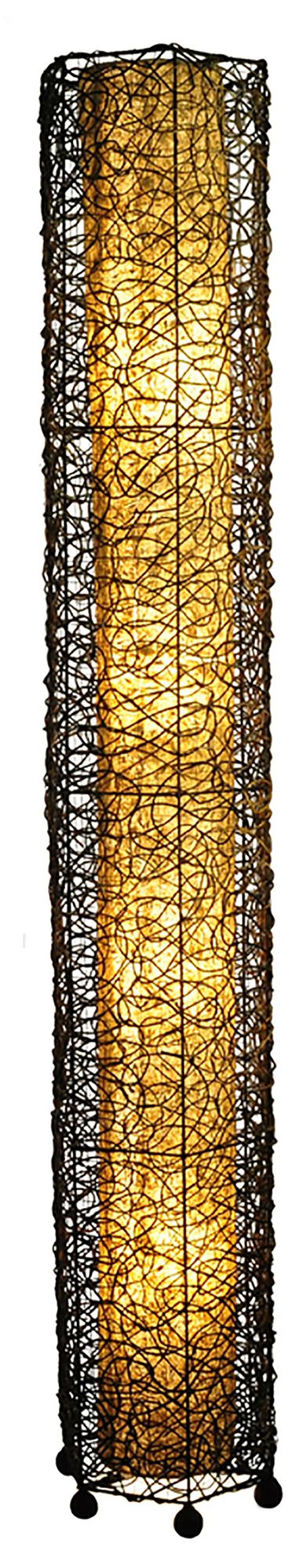 Wonderful Eangee Giant Tower Durian Shade Nito Vines Floor Lamp