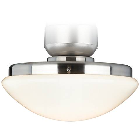 Brushed Nickel Pull-Chain CFL Ceiling Fan Light Kit