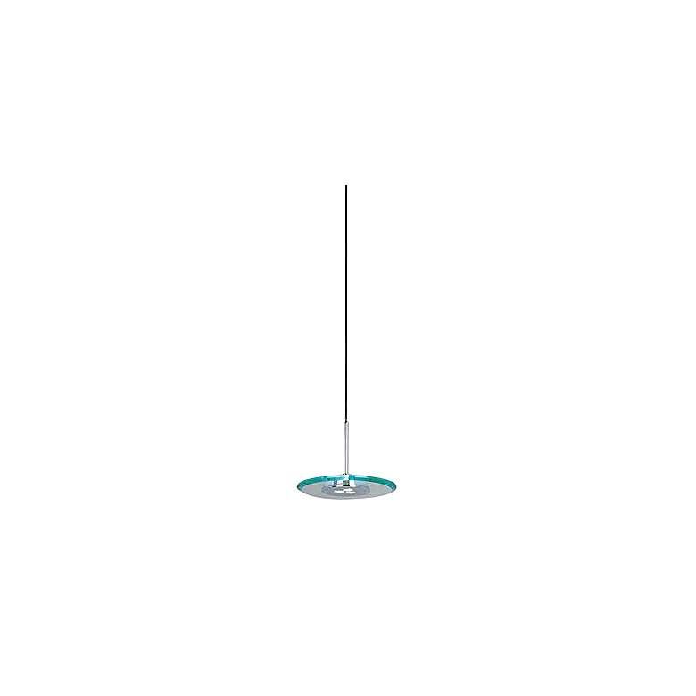"ET2 Beveled Glass Disks 7"" Wide LED Mini Pendant"