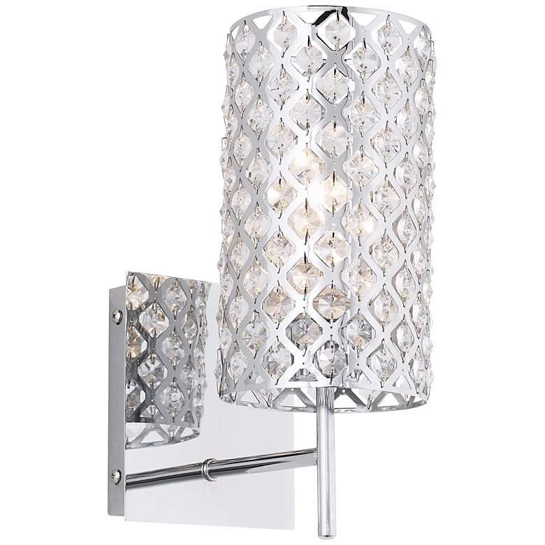 "Possini Euro Design Glitz 12 1/2"" High Crystal Wall Sconce"
