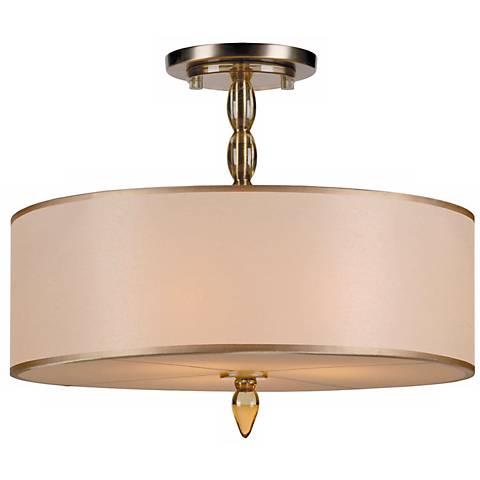 "Crystorama Luxo Brass 18"" Wide Ceiling Light"