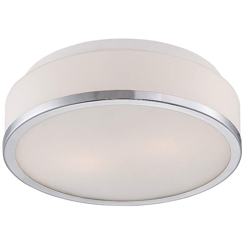 "Possini Euro Mavis 10 1/4"" Wide Opal Glass Ceiling Light"