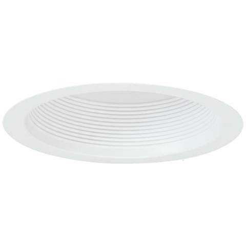 "Nora 7"" Wide White Airtight Baffle Cone Recessed Light Trim"
