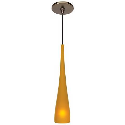 """LBL Cypree 3"""" Wide Amber Bronze Small Mini Pendant"""