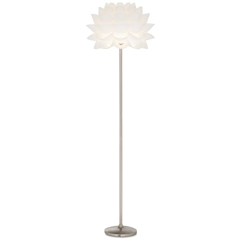 Possini Euro Design White Flower Floor Lamp
