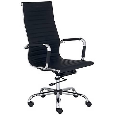 Serge Black High Back Swivel Office Chair