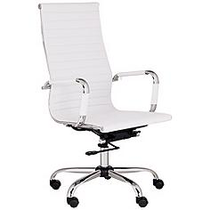 Serge White High Back Swivel Office Chair
