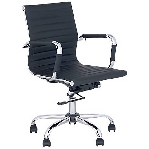 Serge Black Low Back Swivel Office Chair