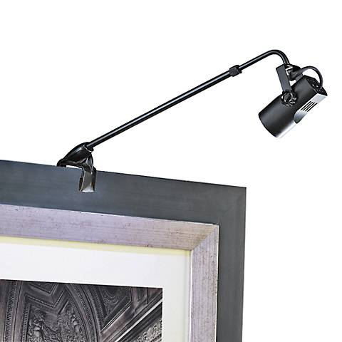 """WAC Clamp Mount 4 1/4"""" High Black Adjustable Picture Light"""
