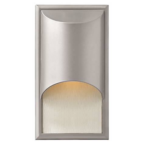 """Hinkley Cascade Titanium 14 1/2"""" High Outdoor Wall Light"""