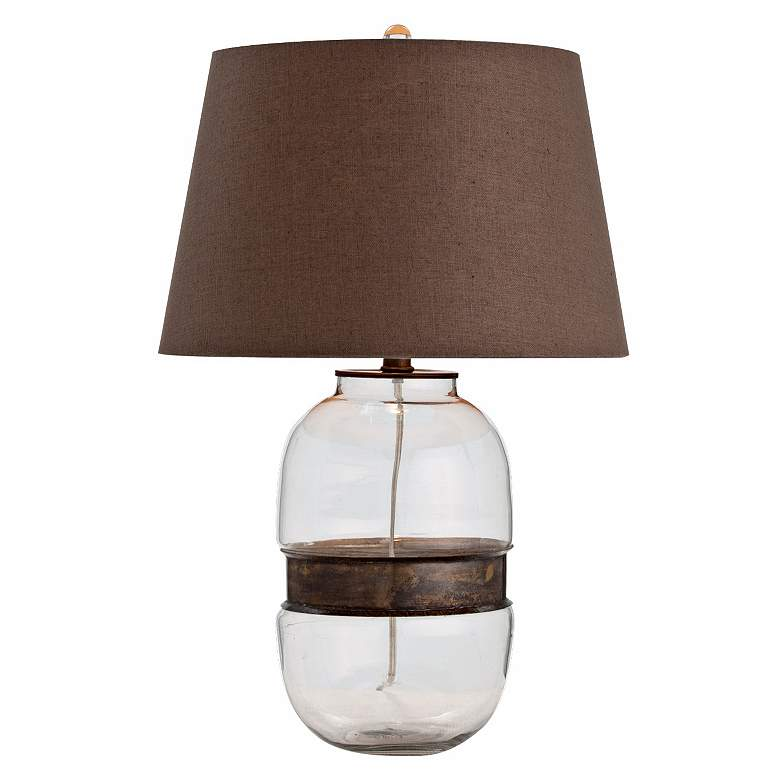 Garrison Vintage Brass and Glass Table Lamp