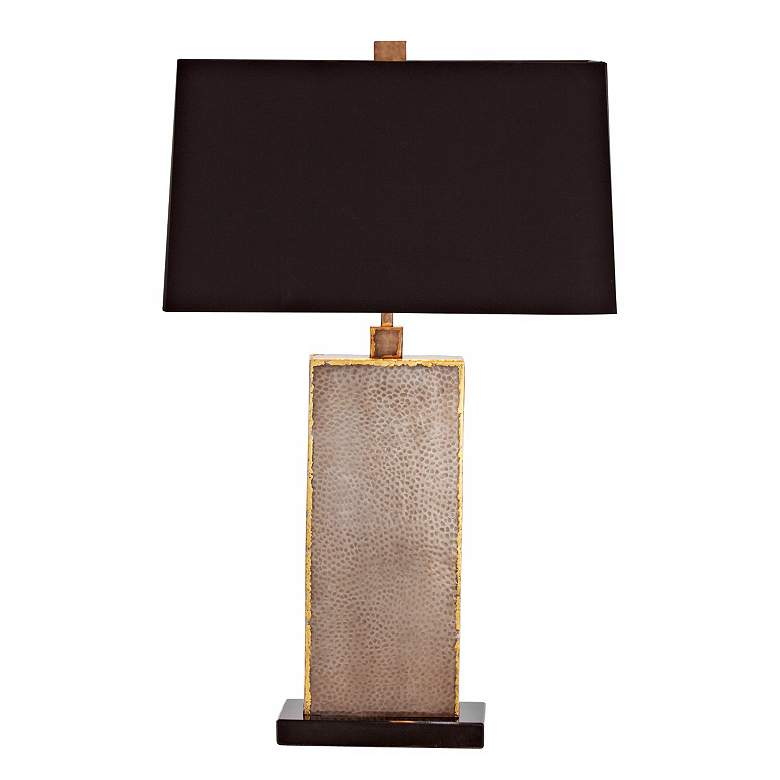 Graham Natural Iron Brass and Marble Table Lamp