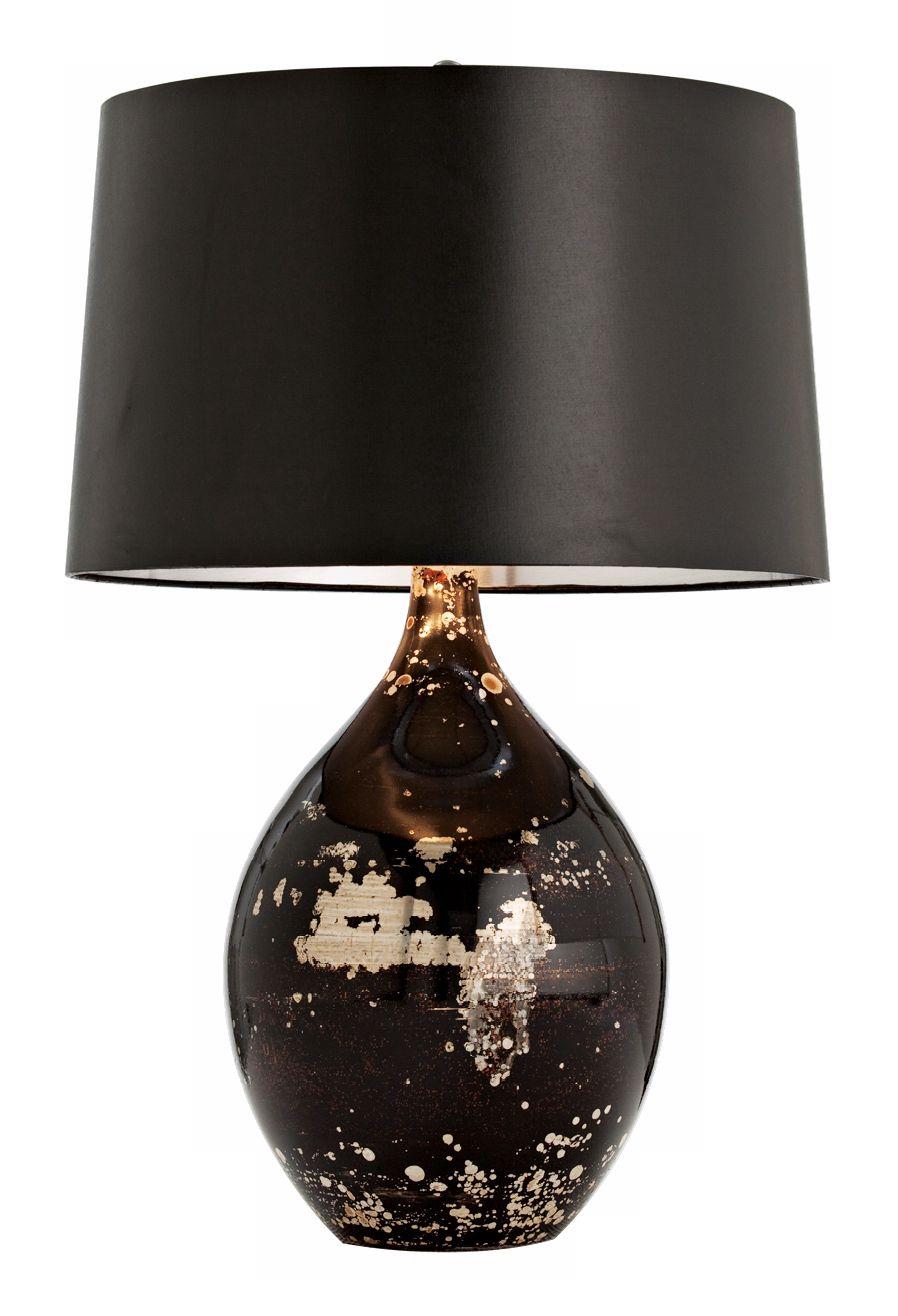 Arteriors Home Flynn Mercury Black Reactive Glass Table Lamp   #M6075 |  Lamps Plus
