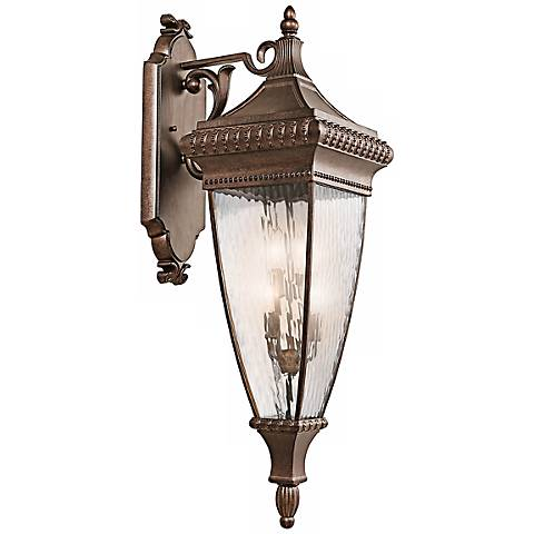 "Venetian Rain Bronze 37"" High Outdoor Wall Light"