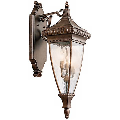 "Venetian Rain Bronze 31"" High Outdoor Wall Light"