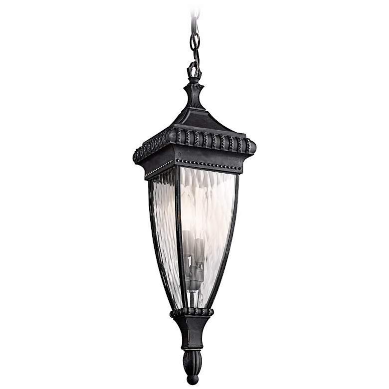 "Venetian Rain Black 25"" High Outdoor Hanging Light"