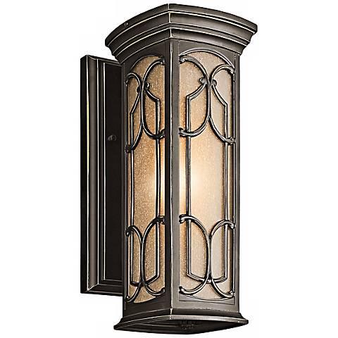 "Kichler Franceasi Bronze 14 1/2"" High Outdoor Wall Light"