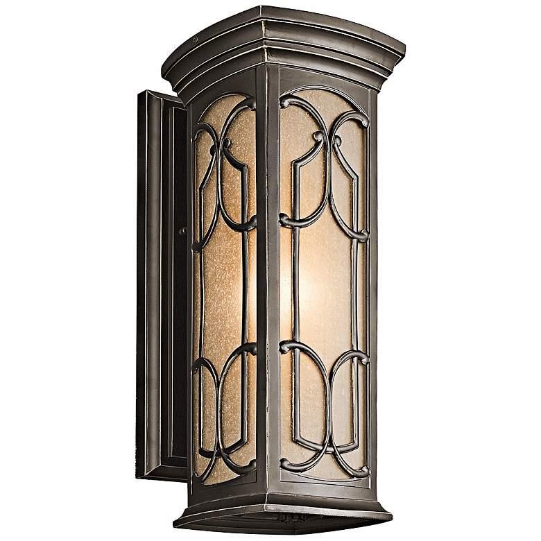 """Franceasi Olde Bronze 18"""" High Outdoor Wall Light"""