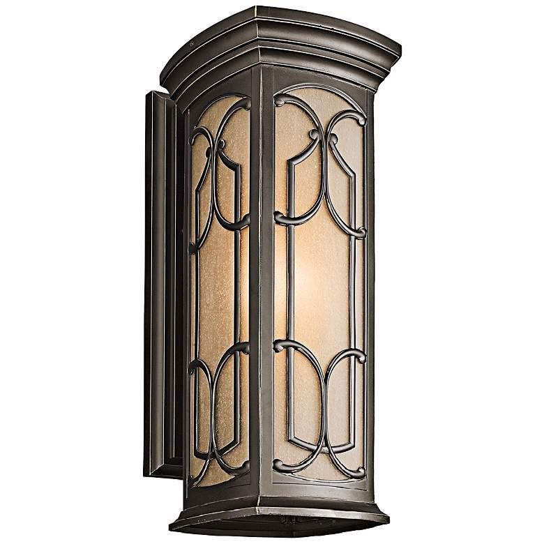 """Franceasi Olde Bronze 22"""" High Outdoor Wall Light"""
