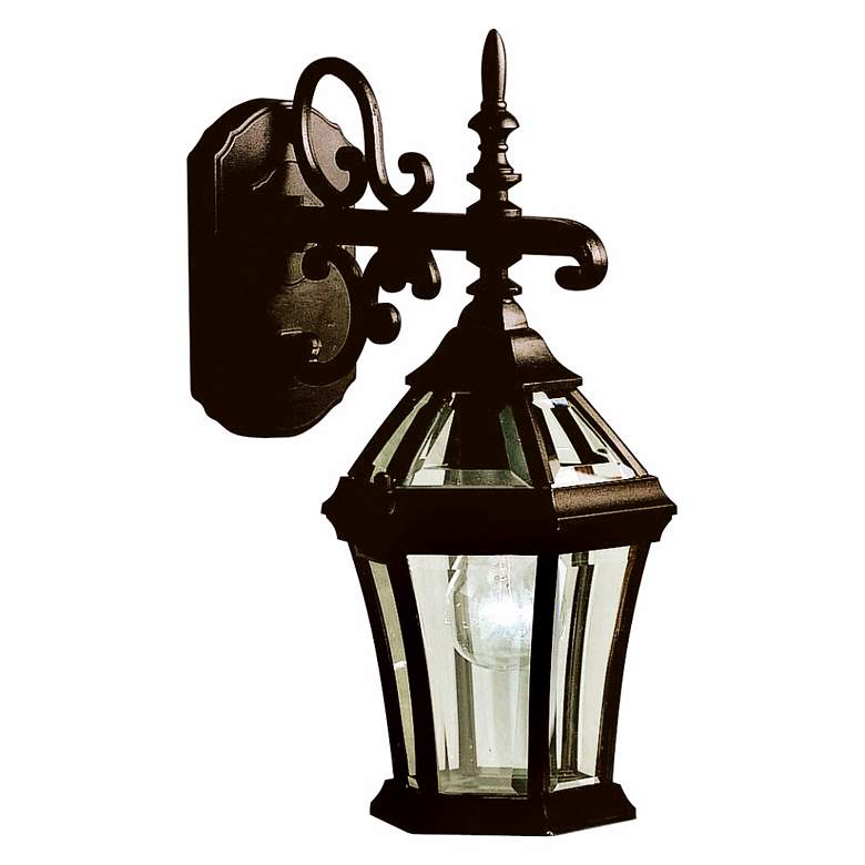 "Townhouse Black 15 1/2"" High Outdoor Wall Light"