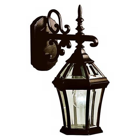 "Townhouse Black 15 1/2"" High Outdoor Wall Light"
