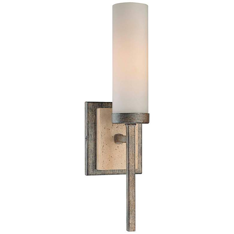 "Compositions Collection 15 1/4"" High Iron Wall Sconce"