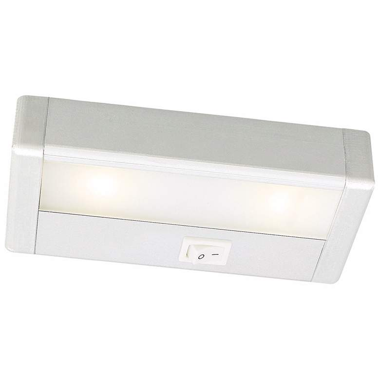 "WAC LED 8"" Wide Satin Nickel Under Cabinet Light Bar"
