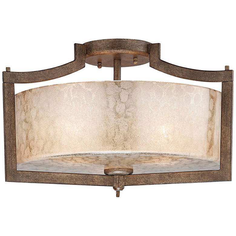 "Minka Clarte Collection 17"" Wide Panta Iron Ceiling Light"