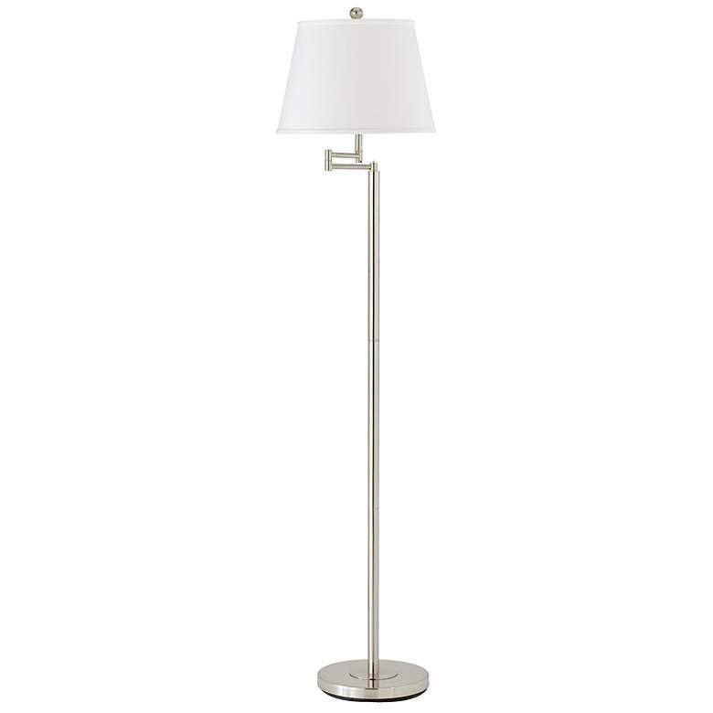 Andros Brushed Steel Finish Swing Arm Floor Lamp