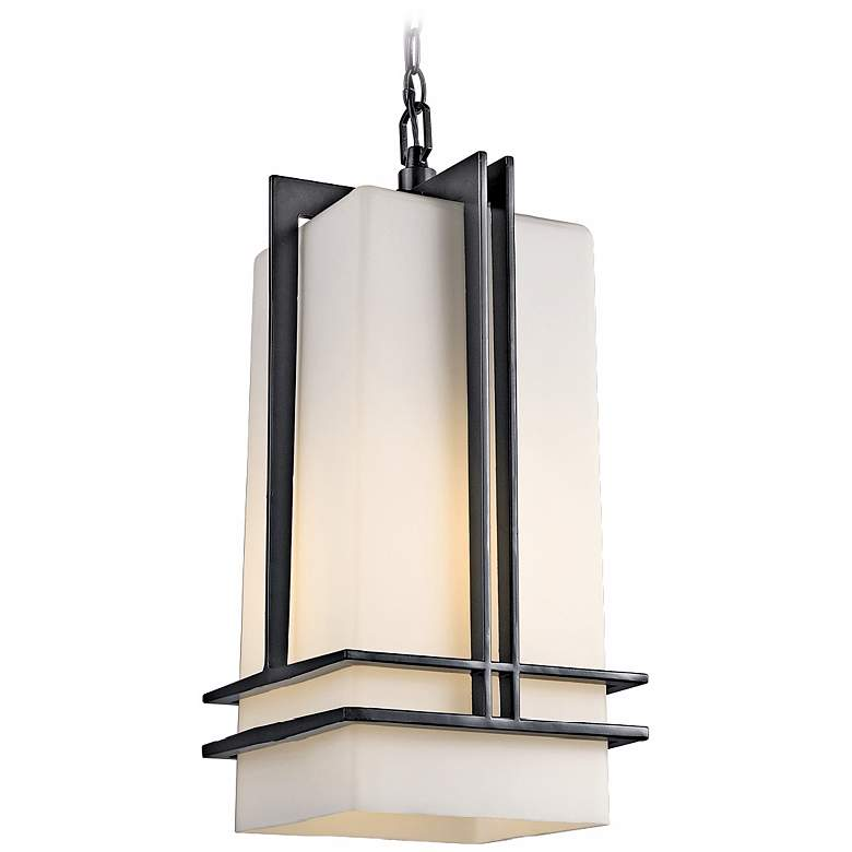 """Tremillo Collection Black 17"""" High Outdoor Hanging Light"""
