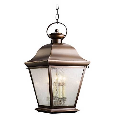 "Kichler Mount Vernon 26"" High Outdoor Hanging Light"