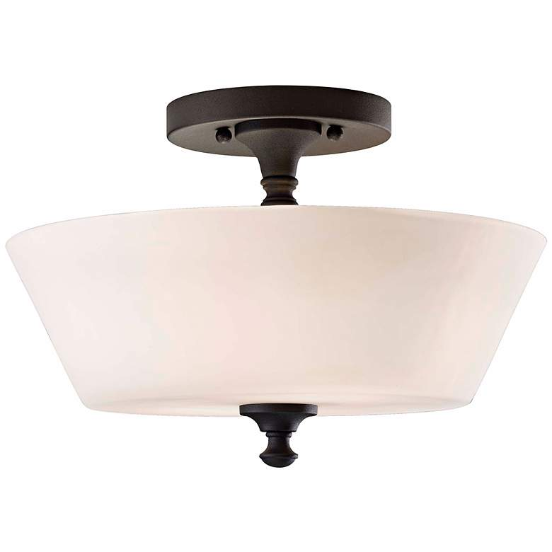 "Feiss Peyton 13"" Wide Ceiling Light Fixture"