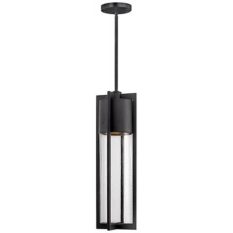 "Hinkley Shelter 21 3/4"" High Black Outdoor Hanging Light"
