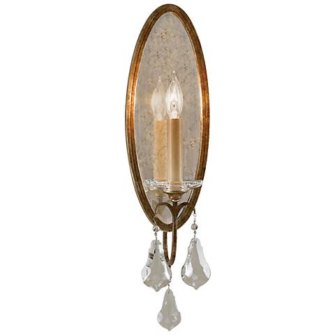 "Valentina Collection 19"" High Oxidized Bronze Wall Sconce"