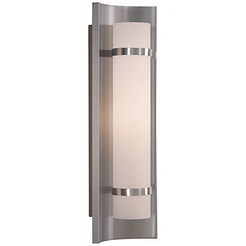 "Feiss Colin Brushed Steel 18 1/2"" High Wall Sconce"