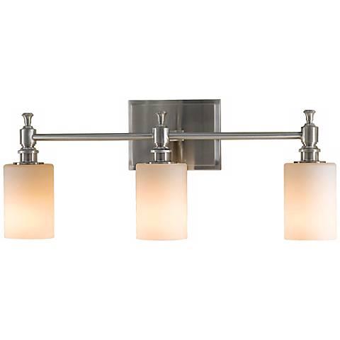 "Feiss Sullivan Brushed Steel 24"" Wide Bath Wall Light"