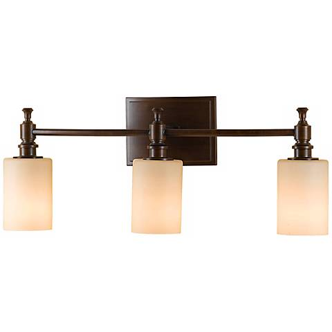"Feiss Sullivan Bronze 24"" Wide Bathroom Wall Light"
