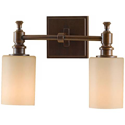 "Feiss Sullivan Bronze 13"" Wide Bathroom Wall Light"